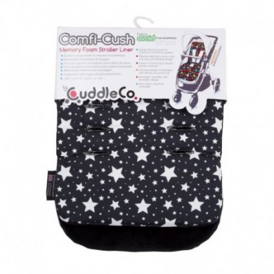 Saltea carucior Comfi-Cush Black and White Stars