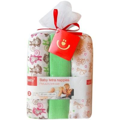 Scutece textile pentru bebelusi 3 buc - Bobobaby - Verde