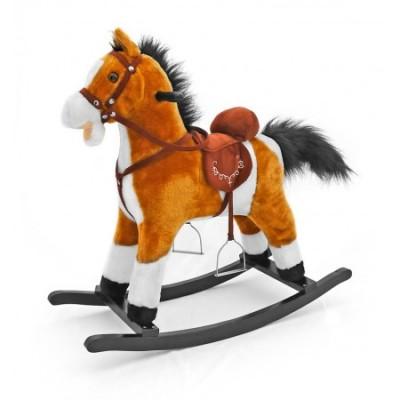 Calut balansoar cu sunete si miscare Mustang Light Brown