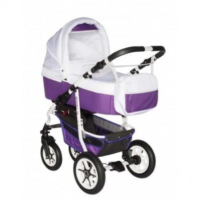 Carucior bebelusi 2in1 Pj Stroller Comfort White Purple