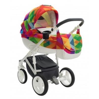 Carucior copii 3 in 1 Bexa Cube Rainbow