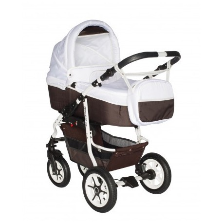 Carucior bebelusi 3in1 Pj Stroller Comfort White Brown