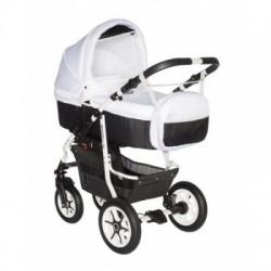 Carucior bebelusi 3in1 Pj Stroller Comfort White Black