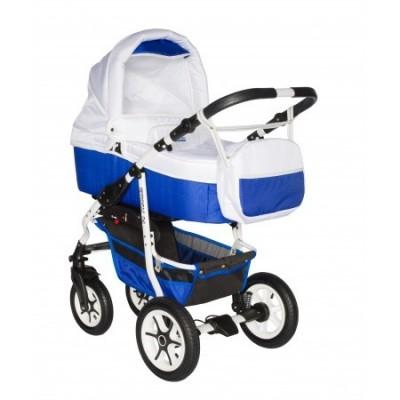 Carucior bebelusi 3in1 Pj Stroller Comfort White Blue