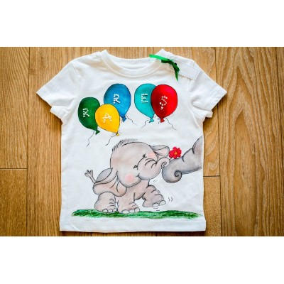 Tricou pictat - Balloons