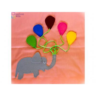Pagina Carte - Elefant cu baloane