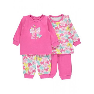 Set 2 Pijamale - Pink Butterfly